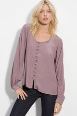 Winter Kate Moonbeam Silk Crepe Blouse - Lyst