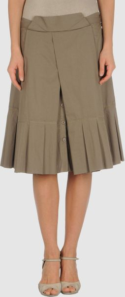Philosophy Di Alberta Ferretti Knee Length Skirt in Green (khaki) - Lyst