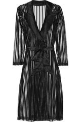 Agent Provocateur Marcia Striped Tulle Robe - Lyst
