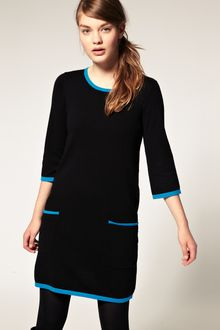 ASOS Collection Asos Contrast Knitted Shift Dress - Lyst