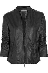 Lot78 Reese Crinkled Leather Jacket - Lyst