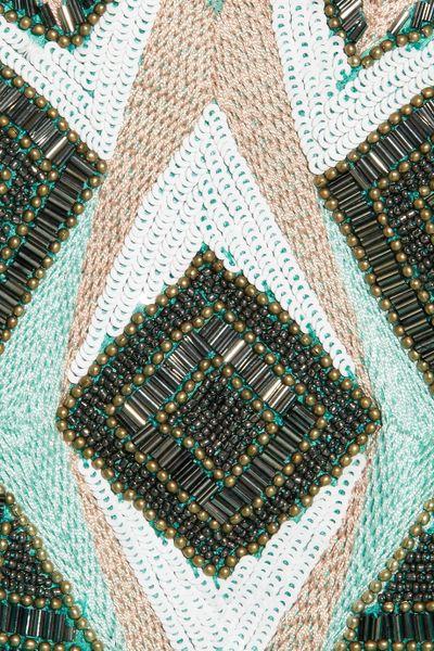 Matthew Williamson Embellished Silk chiffon Maxi Kaftan in