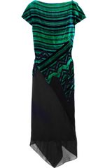 Proenza Schouler Chiffon and Devoré-velvet Dress - Lyst