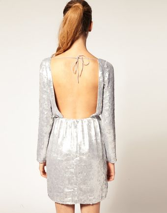 ASOS Collection Asos Sequin Dress with Long Sleeve - Lyst