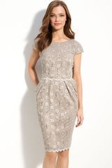 Alex Evenings Sequin Lace Overlay Sheath Dress - Lyst