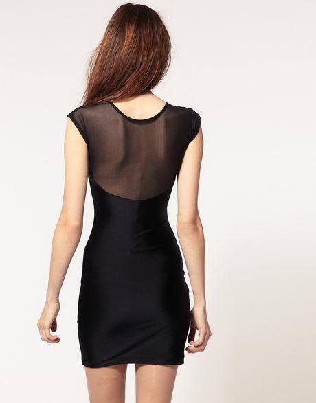 American apparel mesh top mini dress in black lyst for American apparel mesh shirt