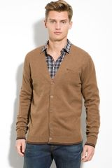 Ben Sherman Hazewick Cotton V-neck Cardigan - Lyst