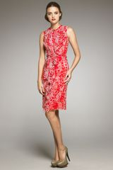 Carolina Herrera Bubble-Print Silk Dress - Lyst
