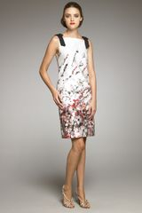 Carolina Herrera Abstract Floral-print Dress - Lyst
