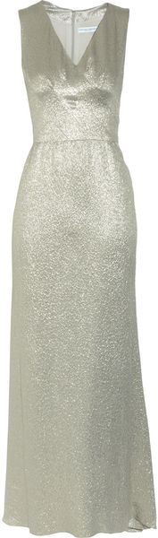 Carolina Herrera Metallic Silk-blend Jacquard Dress - Lyst