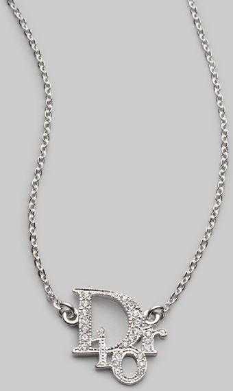 Dior Logo Strass Necklace - Lyst