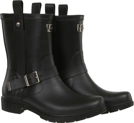 Hunter Mens Shoreditch Wellington Boots Black In Black For
