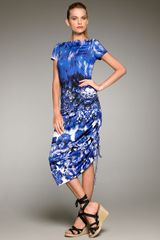 Jean Paul Gaultier Optic Floral-print Dress - Lyst