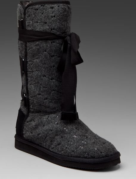 Juicy Couture Marley Sequined Winter Boot In Black Lyst