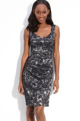 Laundry By Shelli Segal Lace Print Ruched Knit Dress - Lyst