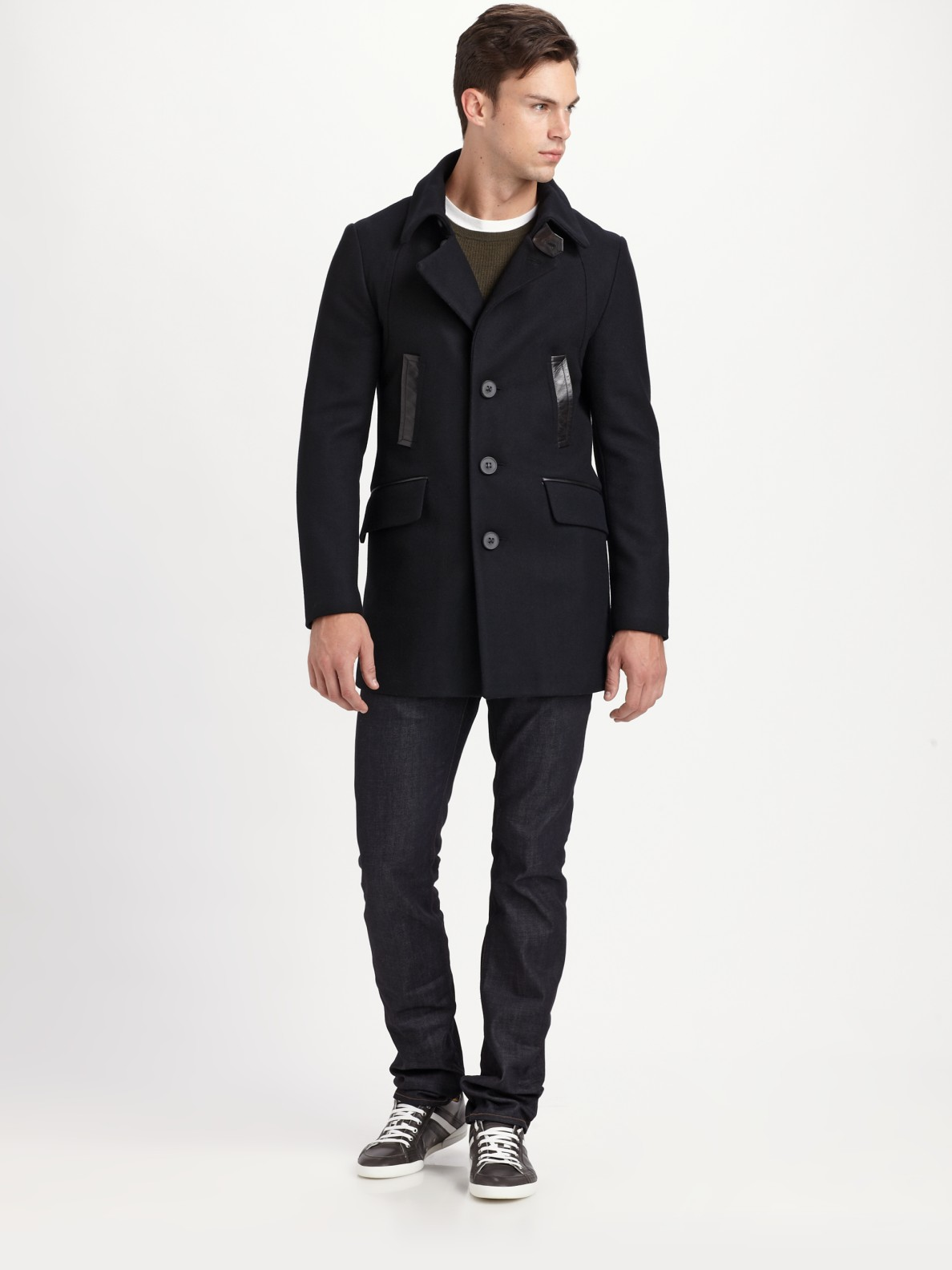 Mackage Clark Peacoat in Black for Men | Lyst
