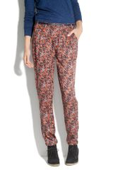 Madewell Brush-dot City Block Trousers