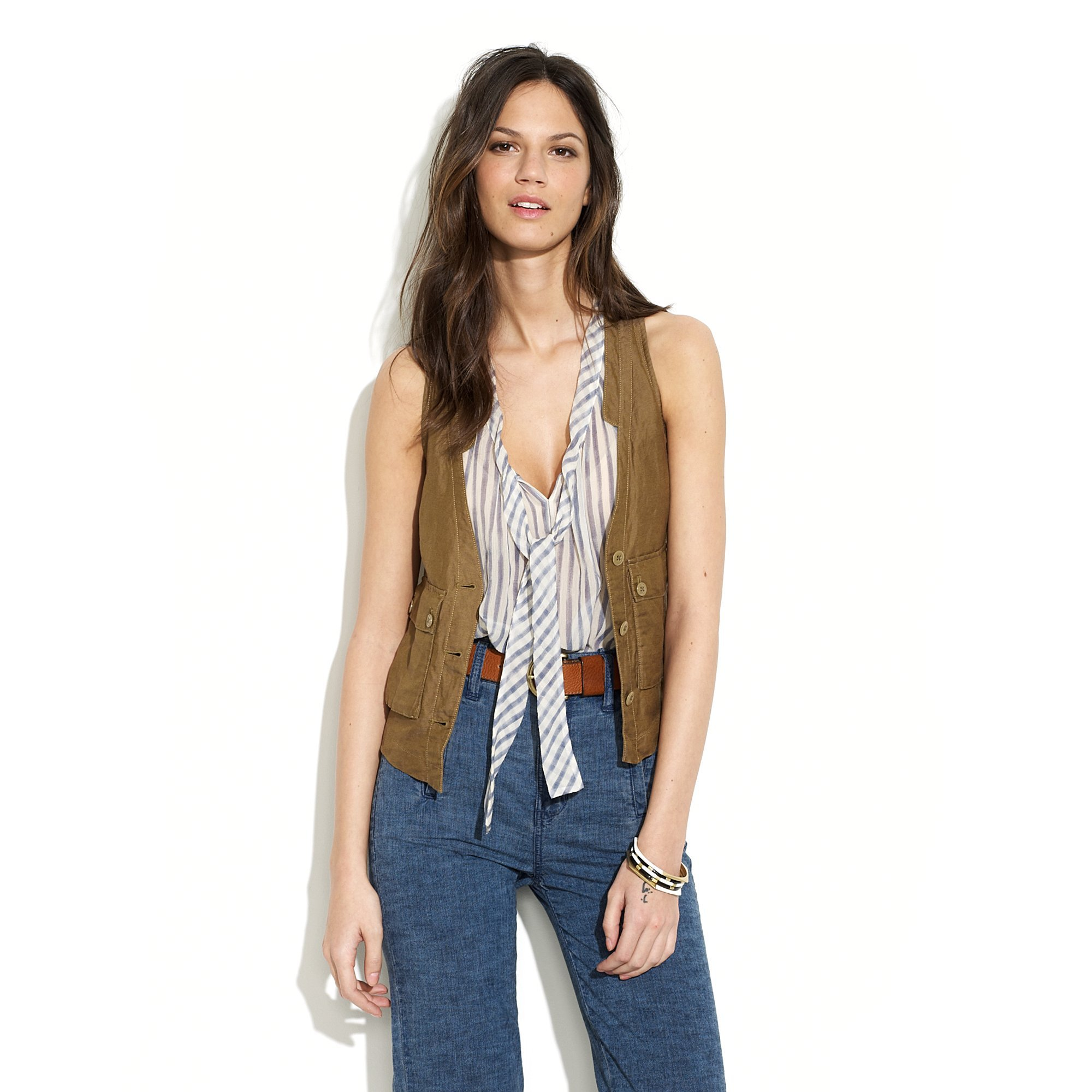 454994ae99762 Lyst - Madewell Safari Vest in Green