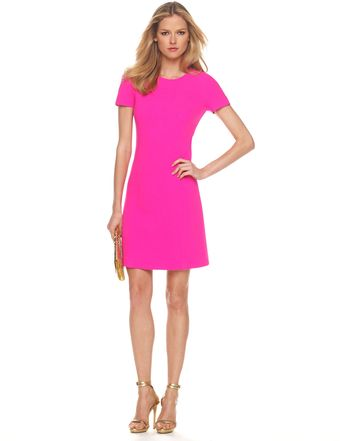 Michael Kors Stretch Boucle Dress, Neon - Lyst