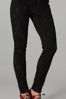 Rag & Bone Alison Lace and Stretchjersey Skinny Pants - Lyst