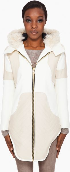 Rag & Bone Magnum Coat in White (ivory) - Lyst