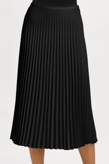 Ralph Lauren Black Label Pleated Edwina Skirt - Lyst