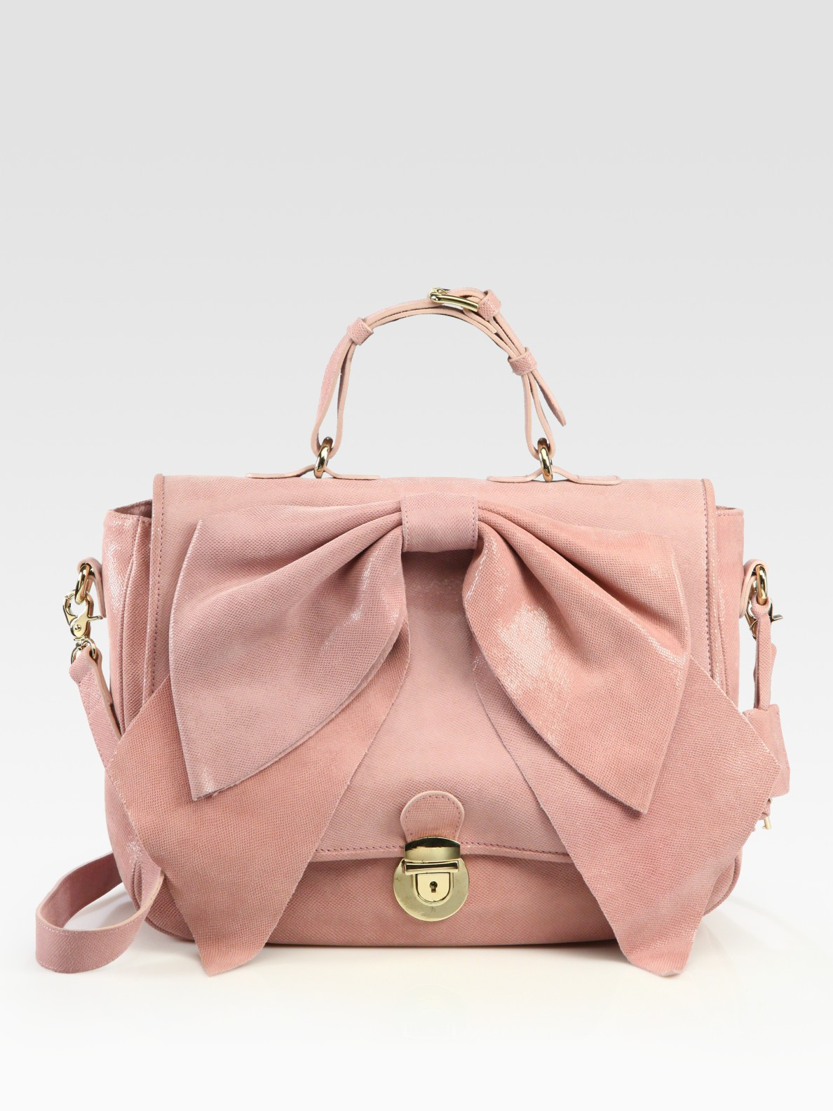 Red valentino Bow Top Handle Bag in Pink | Lyst