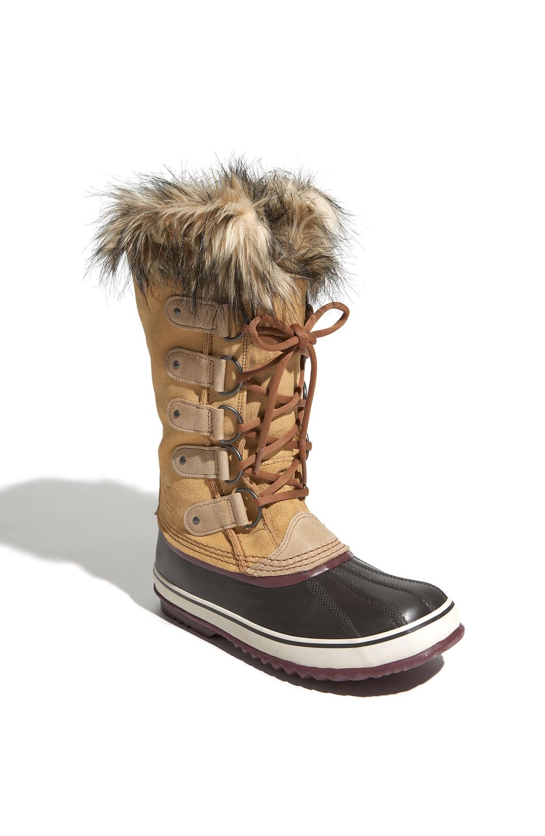 sorel joan of arctic boot in brown tan lyst. Black Bedroom Furniture Sets. Home Design Ideas