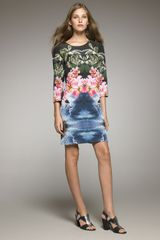 Stella McCartney Tropical-print Shift Dress - Lyst