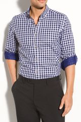 Ted Baker Roll Sleeve Shirt - Lyst