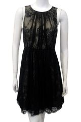 Tibi Imperial Lace Dress in Black - Lyst
