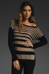 C&c California Striped Tilted Hem Tunic  - Lyst