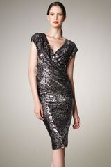 Donna Karan New York Sequined Pencil Skirt - Lyst