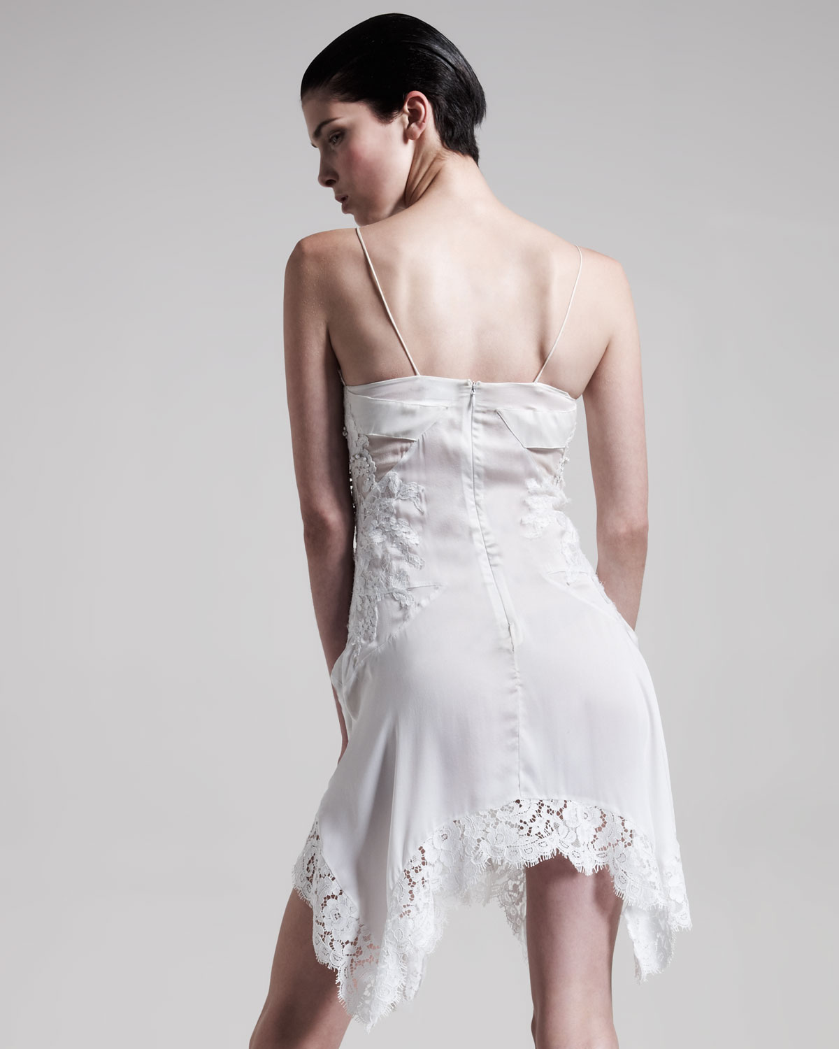 Lyst Givenchy Lace Camisole Dress In White