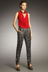 Lanvin Sequinprint Pants - Lyst