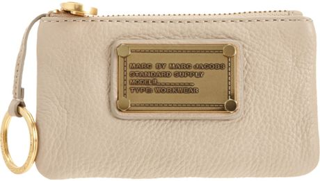 Marc By Marc Jacobs Key Pouch in Beige (gold) - Lyst