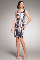 Oscar de la Renta Abstract-print Dress - Lyst