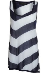 Rag & Bone Devon Stripe Tank -navy/pale Blue - Lyst