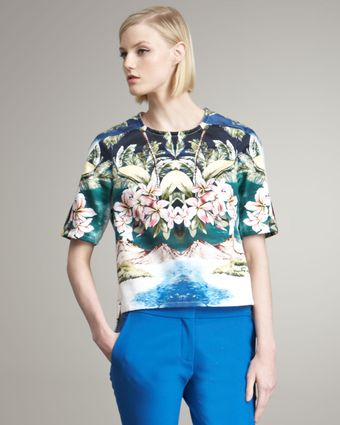 Stella McCartney Tropical-print Blouse - Lyst