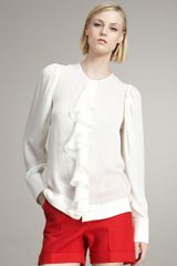 Stella McCartney Ruffled Silk Blouse - Lyst