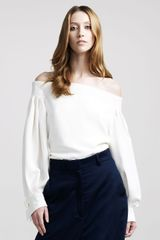 The Row Off-shoulder Blouse - Lyst