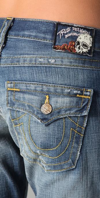 daecbe763 True Religion Cameron Boyfriend Jeans in Blue - Lyst