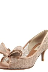 Valentino Couture Lace Bow Pump - Lyst