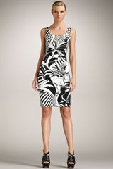 Versace Classic Printed Sheath Dress - Lyst