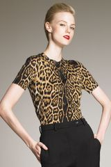 Yves Saint Laurent Leopard-print Top - Lyst