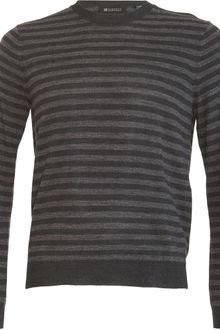 Co-op Barneys New York Striped Crewneck Sweater - Lyst
