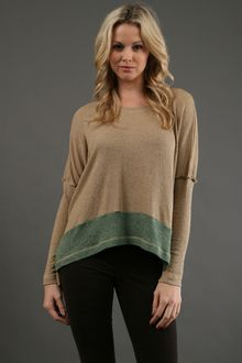 Jet By John Eshaya Two Tone Thermal Top in Camel - Lyst