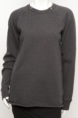 T By Alexander Wang Zip Detail Shirt in Gray (charcoal) - Lyst