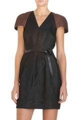 3.1 Phillip Lim Metallic Cap Sleeve Dress - Lyst