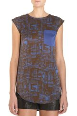 3.1 Phillip Lim Printed Top - Lyst